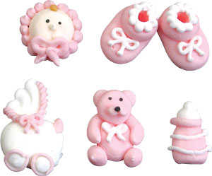 Pink Baby Icing
