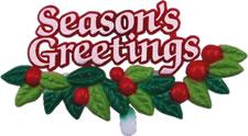 Season's Greeting Plaque