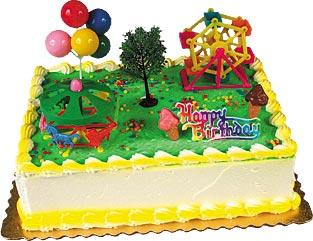 Fun Park Birthday Cake Kit