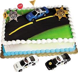 Police Cruiser Cake Kit