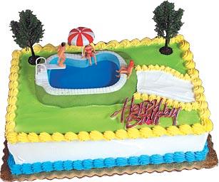 Swimming Pool Cake Kit