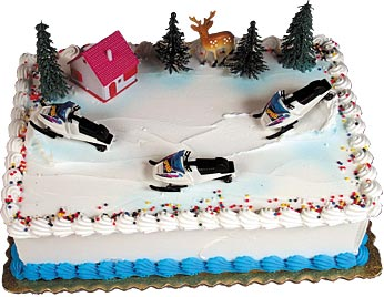 Snowmobiles Cake Kit