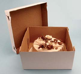 2pc Cake Box 12 X 12 X 6