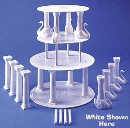 "Swan Pillar Sets 12"""" White"