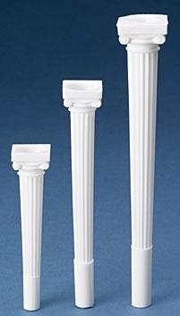 "9"""" Grecian Spiked Pillars"
