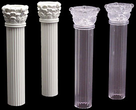 "Chantilly Columns 7"""" Clear"