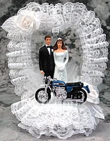 Motorcycle Bride And Groom