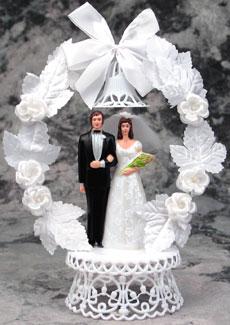 Bride Satin Dress On Base