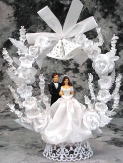 Bride Satin Dress With Bow