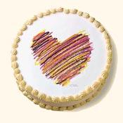 Crayon Heart Edible Image