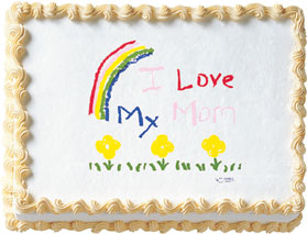 I Love My Mom Edible Image