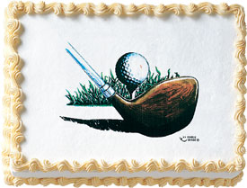 Golf Ball And Club Image