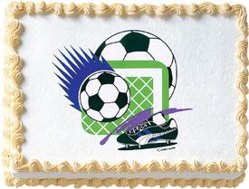 Soccer Edible Image