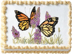 Butterflies Edible Image