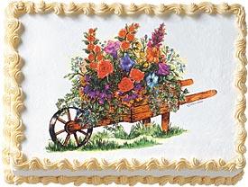 Wheelbarrow Of Flowers Image