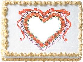 Rose Heart Edible Image