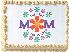 Best Mom Edible Image