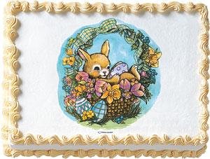 Easter Bunny Basket Edible Image