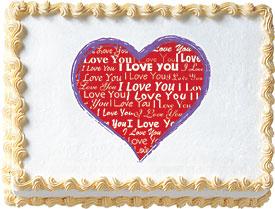 Love Heart Edible Image