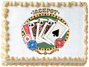 Poker Edible Image