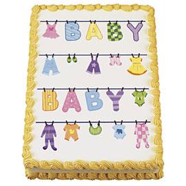 Baby Clothesline Edible Image