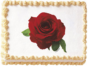 Red Rose Edible Image