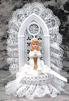 Praying Girl With Altar