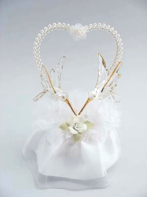 pearl heart wedding cake topper hummingbirds with pearl the largest selection of 18164