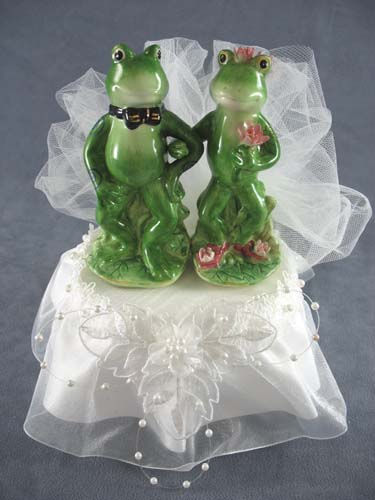 frog wedding cake toppers frog prince justcaketoppers 4380