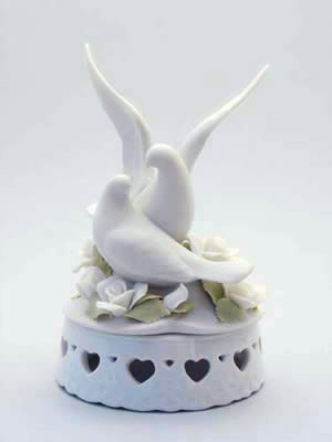 Doves On Floral Base