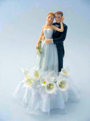 Bridal Couple Calla Lilly