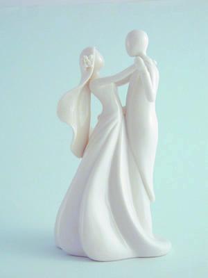 Tall White Bridal Couple