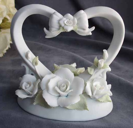 Floral Heart Bow