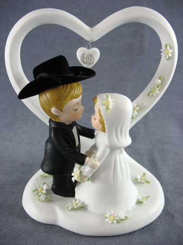 country couple wedding cake topper western justcaketoppers 12979