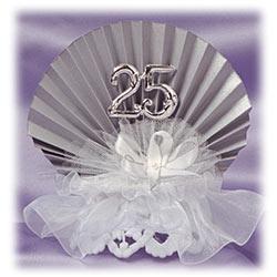 25th Anniversary Silver Fan