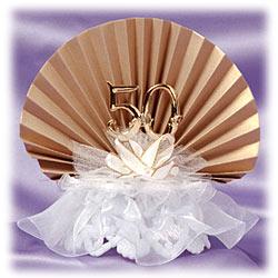 50th Anniversary Gold Fan