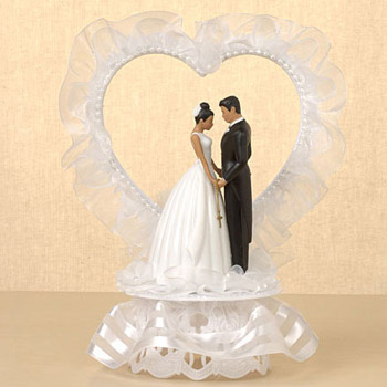 traditional wedding cake toppers ty bridal cross chain justcaketoppers 8041