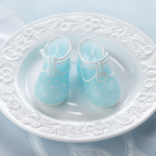 Baby Bootie Candles Blue
