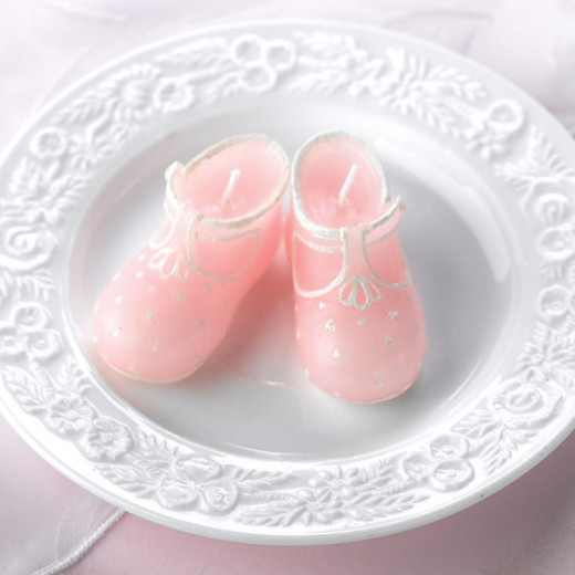 Baby Bootie Candles Pink
