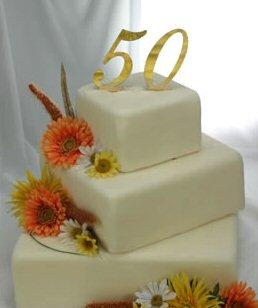 Anniversary Gold Number Monogram Thick