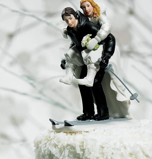 Winter Skiing Couple